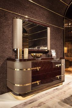 Turri - Luxury Italian Furniture for exclusive and modern design Diamond Bedroom www.it Italian luxury sideboard Art Deco Furniture, Dining Furniture, Rustic Furniture, Luxury Furniture, Modern Furniture, Home Furniture, Furniture Design, Furniture Ideas, Office Furniture
