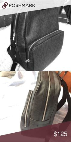 This MK jet set logo back pack is next to new. This is a Michal Kors back pack is in next to new condition, it was given to me but it's not really my style. It comes with a dust bag and it features many pockets. Michael Kors Bags Backpacks