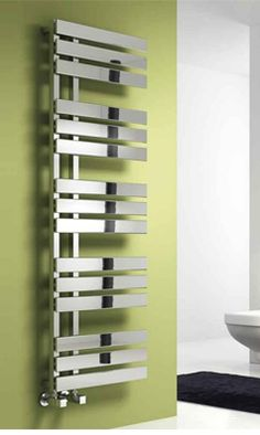 The Reina Sesia Designer Towel Rail. The perfect addition to any bathroom or kit. The Reina Sesia Designer Towel Rail. The perfect addition to any bathroom or kitchen. Available wit Decor Interior Design, Interior Decorating, Electric Towel Rail, Warm Bathroom, Towel Radiator, Designer Radiator, Thing 1, Heated Towel Rail, Shower Enclosure