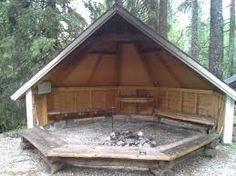 Koitajoen laavut: Pamilonkoski (Traditional Cache) in Finland created by Camping Shelters, Outdoor Shelters, Backyard Projects, Outdoor Projects, Outdoor Rooms, Outdoor Living, Portable Fire Pits, Outdoor Buildings, Tiny House Cabin