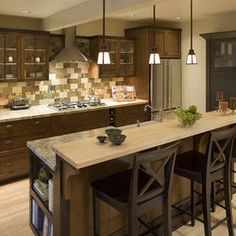 Kitchen Island Breakfast Bar Counter Design, Pictures, Remodel, Decor And  Ideas Craftsman Kitchen