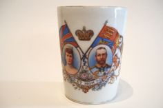 King George V Queen Mary Coronation Beaker Tumbler Cup 1911 Royalty Royal by okanaganvintage on Etsy