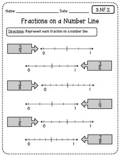 equivalent fractions on a number line freebie  math  createteachshare common core worksheets rd grade edition