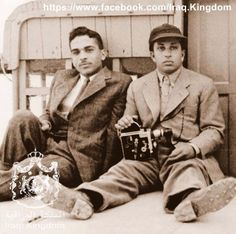 King Hussein of Jordan and King Faisal of Iraq