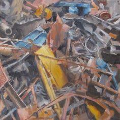 "Saatchi Online Artist Andrea Mancini; Painting, ""#1507 Metal"" #art"