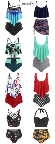 Discover 2020 women's swimwear and beachwear at dresslily. Browse the latest bikinis, tankinis, bathing suits, and cover ups. Order now at dresslily. Swimsuits For Teens, Modest Swimsuits, Women's Swimwear, Beachwear, Trendy Outfits, Cute Outfits, Cute Clothes For Women, Holiday Beach, Tankinis