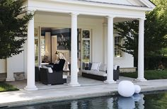 POOL HOUSE – Start collecting design ideas for the future pool house. This one can work. ·B Long Interiors :: Projects :: Country
