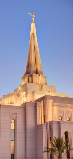 Top portion of the LDS temple being built in Gilbert, Arizona.