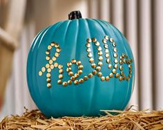 Five of our bloggers faced off in a craft pumpkin decorating competition. See which design was your favorite. | DIY Network Blog: Made + Remade >> http://www.diynetwork.com/made-and-remade/make-it/made-and-remade-pumpkin-challenge-winner?soc=pinterest