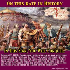 Emperor Constantine Cross | Emperor Constantine witnessed the Chi Rho - or Cross - in the sky on ...