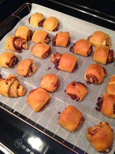 Varieer met croissantdeeg: Kaneelblokjes.