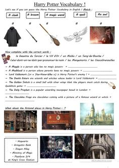 Harry Potter project - vocabulary (WS 3)