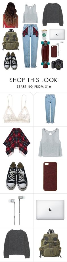 """be alright❤🌌"" by jpxangeloide ❤ liked on Polyvore featuring Hanky Panky, Topshop, Claudie Pierlot, Converse, Scotch & Soda, Eos, Master & Dynamic, Uniqlo and Burberry"