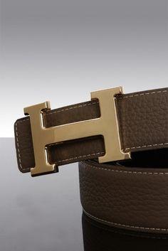 black/taupe Hermes belt (Gold H)