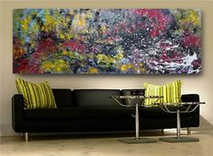 Fine Art Paintings (24x60inch) by Monika Mazek - Summer in Paris
