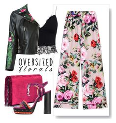 """""""Florals"""" by bysc ❤ liked on Polyvore featuring Dolce&Gabbana, AX Paris, Christopher Kane, Yves Saint Laurent and Lanvin"""