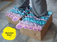 DIY FYI: Paper bag monster feet!
