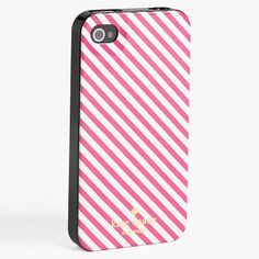 kate spade(ケイト・スペード) NEW YORK iPhone5 ケース (Pink Stripe)
