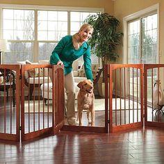wooden dog gate via skymall  www.skymall.com/shopping/detail.htm?c=10710==pd=false=203363003