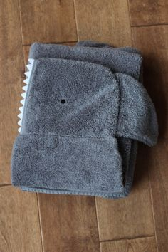 Hooded towels are one of my favorite projects right now. In case you missed them here are some I made for my kids and for presents: cat, monkey, dinosaur. My latest version was for a baby boy destined to be...
