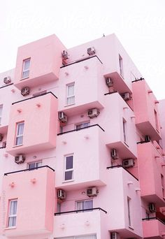 Okay we will live in this super cute pink building! We are loving that fact that the whole building is painted pink, lets just say, we belong there! Pink Love, Pretty In Pink, Cute Pink, Pink Houses, Jolie Photo, Pink Walls, Everything Pink, Picture Wall, Photo Wall