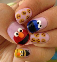 Sesame Street nail art