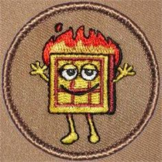 Flaming Waffle Patrol Patch (#223)