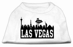 Mirage Pet Products Poly Cotton Sleeveless Las Vegas Skyline Screen Print Shirt White Lg 14 >>> More info could be found at the image url.