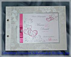 Gästebuch Hochzeit,Herzen,Schraubalbum, 930