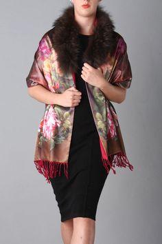 Chocolate - 04 Silk Wrap, Cashmere, Kimono Top, Chocolate, Luxury, Collection, Tops, Women, Fashion
