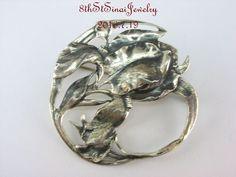 Estate Danecraft Felch & Co.Sterling Silver 925 IRIS Flower Open Work Pin Brooch #DanecraftFelchCo