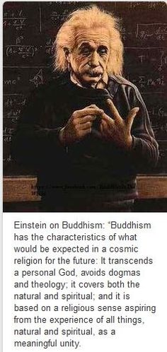 Einstein on Buddhism.