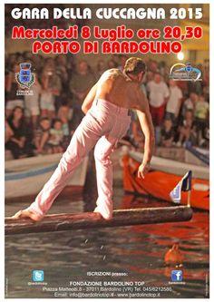 """Bardolino   Baumstammbalancieren """"Gara della Cuccagna"""" 2015"""