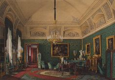 Interiors of the Winter Palace. The First Reserved Apartment. The Small Study of Grand Princess Maria Nikolayevna