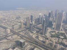 routes a Dubai vue de Burj Khalifa