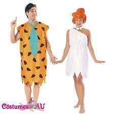 Licensed Flintstones Costume Fred Flintstone OR Wilma Flintstone Fancy Dress