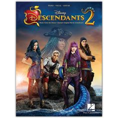 Hal Leonard Descendants Music from the Disney Channel Original TV Movie Soundtrack Piano/Vocal/Guitar Songbook Poster Art, Canvas Poster, Poster Ideas, Art Posters, Disney Channel Original, Original Movie, Dove Cameron, Disney Descendants 2, Poor Unfortunate Souls