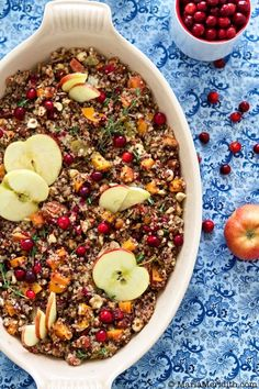 Quinoa Stuffing | Gluten Free Recipe on MarlaMeridith.com #thanksgiving #glutenfree #quinoa