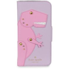 Kate Spade New York Dino Applique Leather Wrap Folio iPhone Case (4.910 RUB) ❤ liked on Polyvore featuring accessories, tech accessories, pink multi, iphone cover case, iphone sleeve case, kate spade, iphone cases and apple iphone case