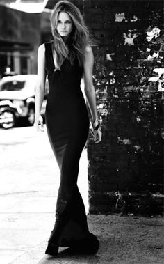 Black Dress Fashion Via Zsa Zsa Bellagio