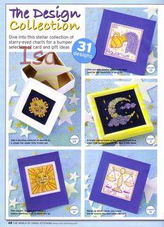 ru & Фото - The world of cross stitching 093 январь 2005 - WhiteAngel Starry Eyed, Horoscope Signs, Stars And Moon, Cross Stitching, Cross Stitch Patterns, Chart, Frame, Gifts, Gallery