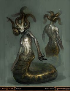 god of war - gorgon by *tobiee on deviantART