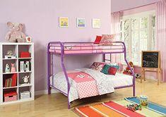 ACME Furniture 02053PU Tritan Bunk Bed, Twin/Full, Purple