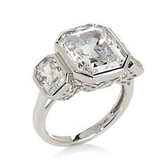 Jean Dousset 8ct Absolute™ Emerald-Cut 3-Stone Ring $90