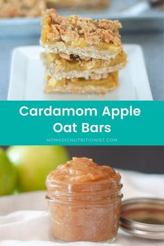 Cardamom apple oatmeal bars are easy to make with just handful of ingredients. These apple bars are sugar-free and gluten-free - delicious enough for dessert and healthy enough to have for breakfast! #cardamom #oatbars #applerecipe #ontarioapples #healthybreakfast #healthysnack Apple Bars, Oat Bars, Oatmeal Bars, Gluten Free Recipes For Breakfast, Snack Recipes, Apple Health Benefits, Make Simple Syrup, Apple Oatmeal, Crumble Topping