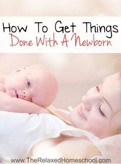 Find out how to get things done with a newborn! It can be tough to find the time to get everything done each and every day. Check out these great tips to help your day go more smoothly! Parenting tips | Parenting advice | Time management | Baby Wearing | Newborn Babies