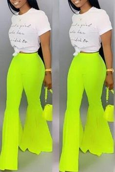 Lovely Stylish High Waist Green Horn-type Pants Comfort clothing for women staying at home. New arrival fashion clothing. 2020 newest clothing. Shop now fast shipping. Affordable Clothes, Cheap Clothes, Cheap Pants, Wholesale Shoes, Wholesale Clothing, Casual Outfits, Cute Outfits, Fashion Outfits, Fashion Ideas