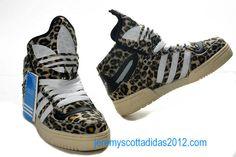 60b30edfba2f Adidas Obyo Jeremy Scott Black White Yellow Leopard Black Adidas