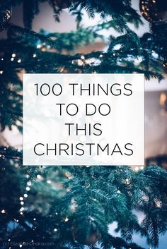 100 Things To Do This Christmas (plus a free download printable)  - an epic list of fun, exciting, and interesting activities to try this festive period. From crafting and cooking to volunteering and making homemade gifts. From exploring, going to events, and filling your home with lovely decorations. There's something here for everyone.  #christmas #festive #xmas #christmasdecor #christmaslist #christmasideas