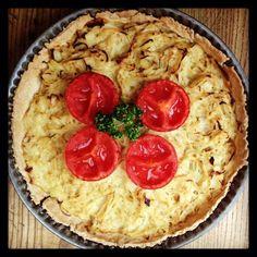 Tarte à l'oignon #cuisine #faitmaison #tarte #oignon #entrée #légume #français #salé